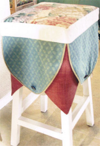 Stool with slip cover